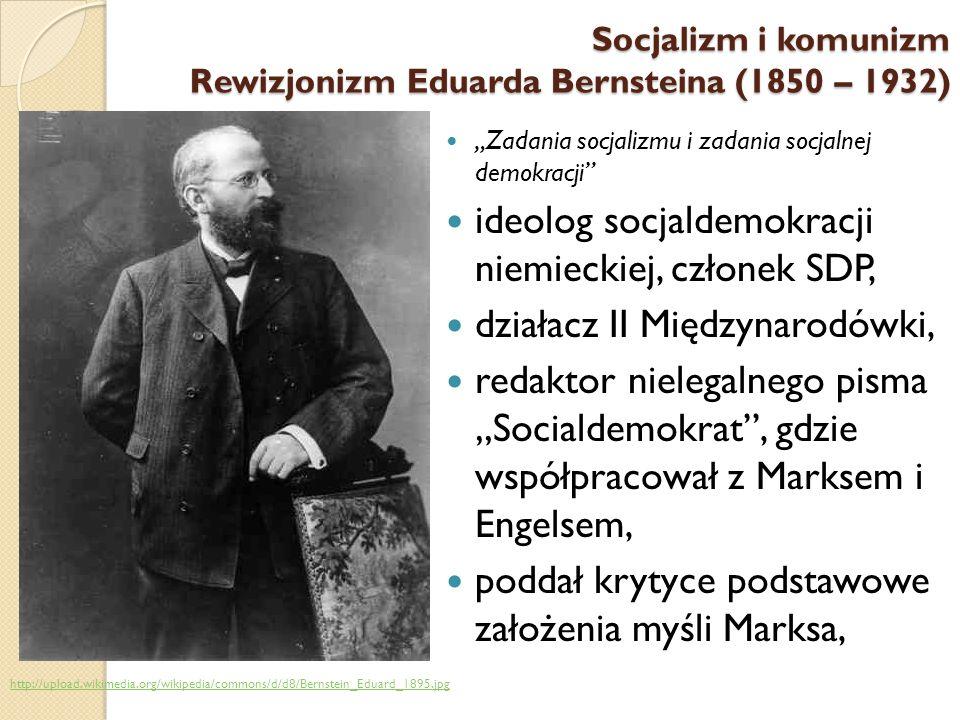 Zadania socjalizmu i zadania socjalnej demokracji ideolog socjaldemokracji niemieckiej, członek SDP, działacz II Międzynarodówki, redaktor nielegalneg