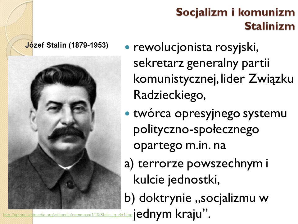 rewolucjonista rosyjski, sekretarz generalny partii komunistycznej, lider Związku Radzieckiego, twórca opresyjnego systemu polityczno-społecznego opar