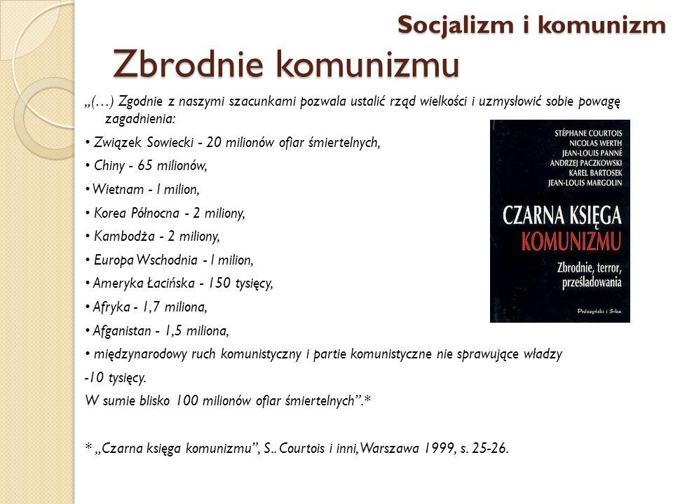 Zbrodnie komunizmu (…) Zgodnie z naszymi szacunkami pozwala ustalić rząd wielkości i uzmysłowić sobie powagę zagadnienia: Związek Sowiecki - 20 milion