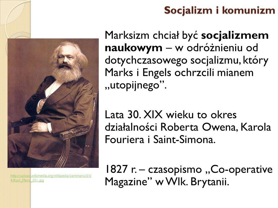 Marksizm chciał być socjalizmem naukowym – w odróżnieniu od dotychczasowego socjalizmu, który Marks i Engels ochrzcili mianem utopijnego. Lata 30. XIX