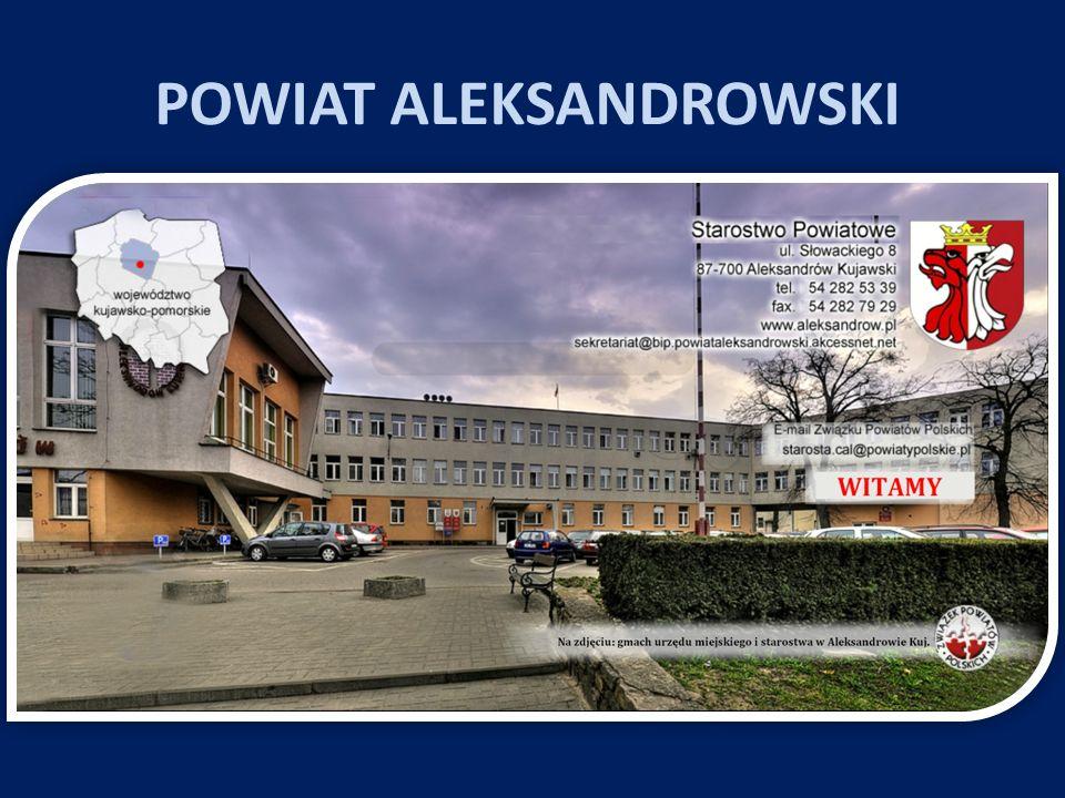 Charakterystyka powiatu: Siedziba Powiatu: Aleksandrów Kujawski Starosta: Wioletta Anna Wiśniewska Powierzchnia: 475,6 km 2 Liczba ludności 55 tys.