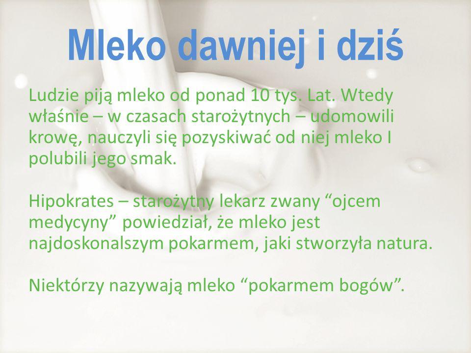 Dlaczego mleko jest zdrowe.Mleko zawiera duże ilości wapnia.