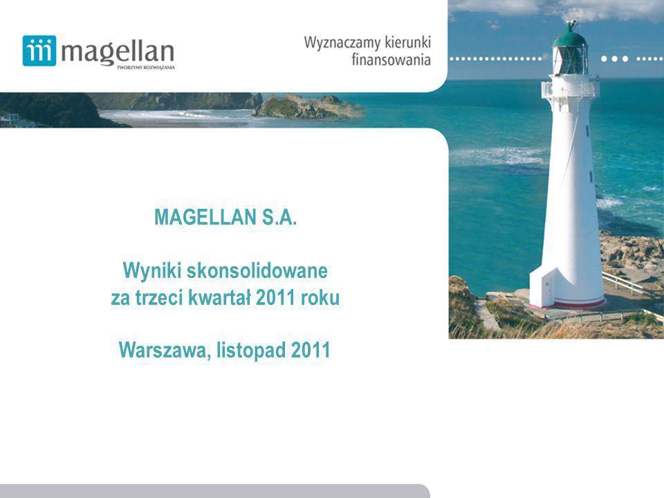 MAGELLAN S.A. Wyniki skonsolidowane za trzeci kwartał 2011 roku Warszawa, listopad 2011