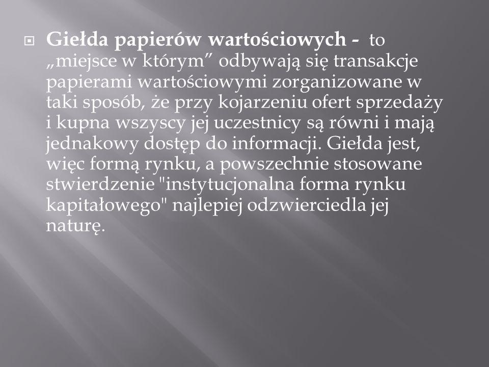 Warszawski Indeks Giełdowy(WIG) – indeks giełdowy typu dochodowego, najdłużej notowany na Giełdzie Papierów Wartościowych w Warszawie.