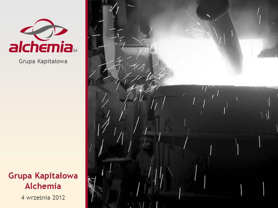 Alchemia to dynamicznie rozwijająca się Grupa Kapitałowa działająca w sektorze niszowych produktów stalowych: rury stalowe bez szwu, wyroby kute, kuto-walcowane i walcowane.