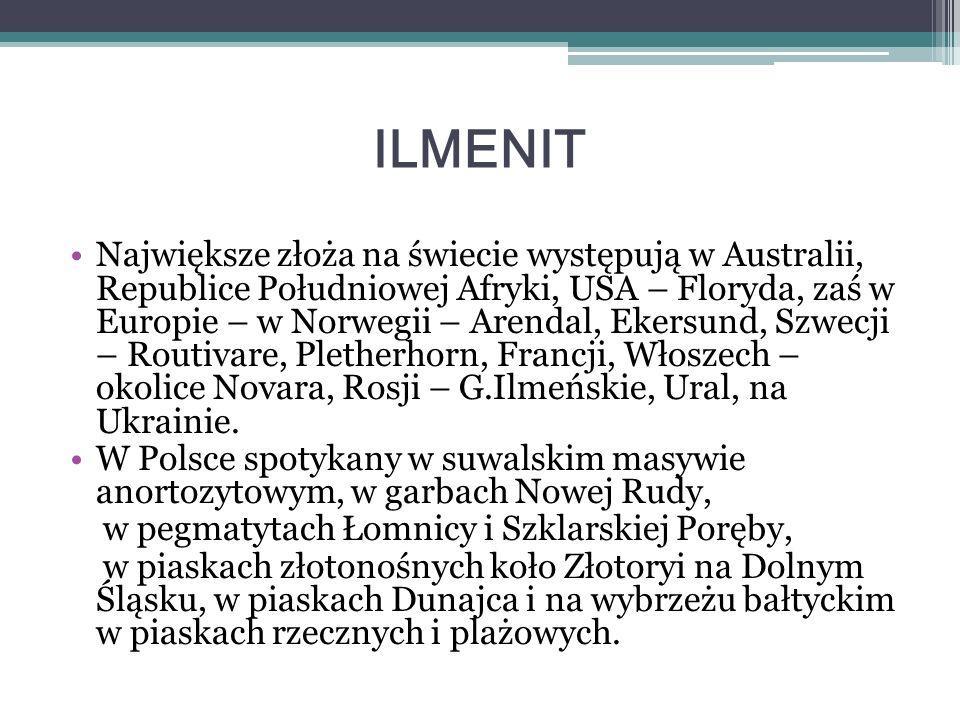 TURKUS Występowanie : Iran Tybet Rosja USA Brazylia Polska – na dolnym Śląsku