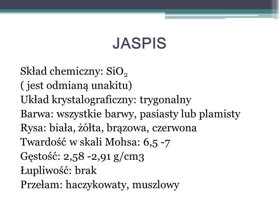 Skład chemiczny :Siarczan(VI) wapnia dihydrat (CaSO 4 · 2H 2 O) Twardość w skali Mohsa: 2 Przełam: muszlowy Łupliwość: doskonała jednokierunkowa Układ krystalograficzny: jednoskośny