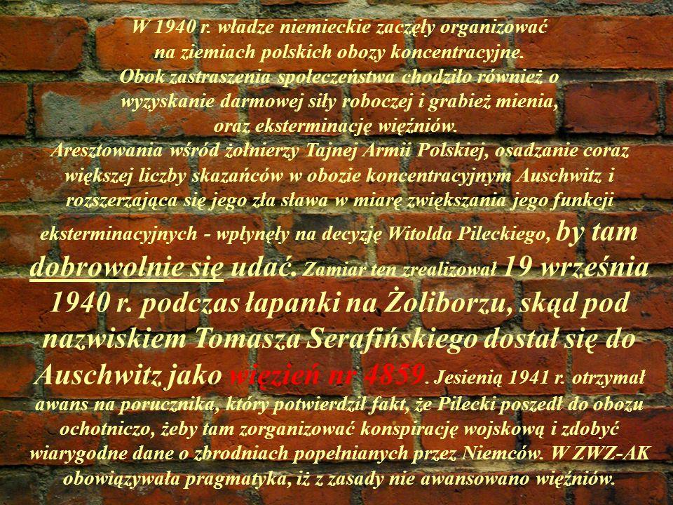 W 1940 r.władze niemieckie zaczęły organizować na ziemiach polskich obozy koncentracyjne.