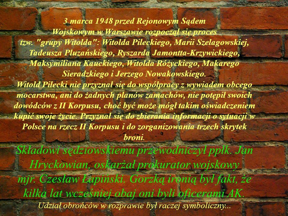 3 marca 1948 przed Rejonowym Sądem Wojskowym w Warszawie rozpoczął się proces tzw.