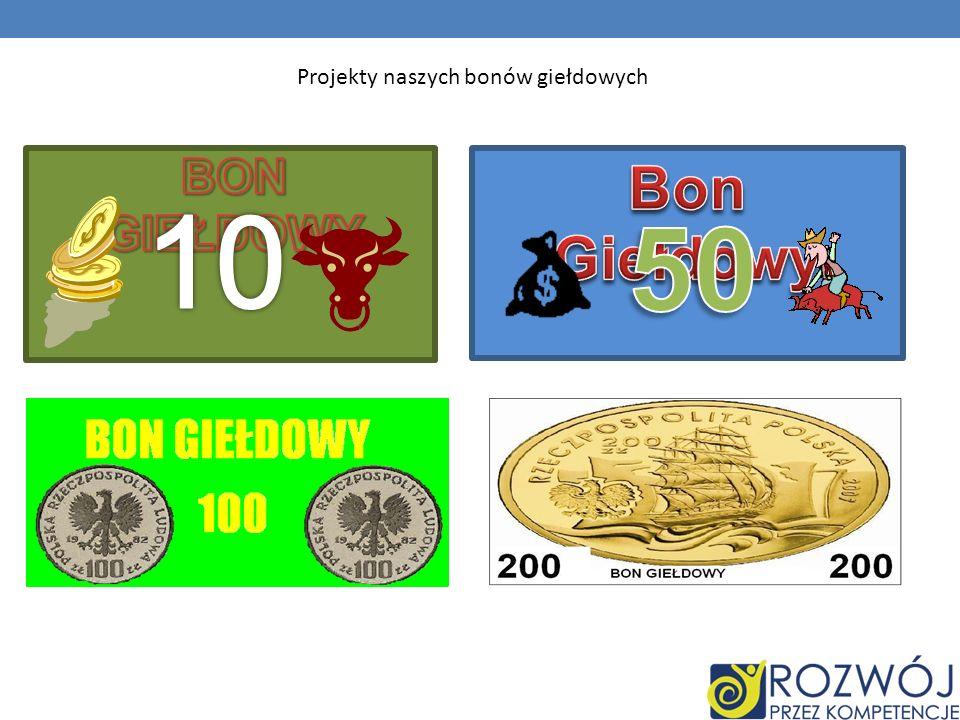 Projekty naszych bonów giełdowych