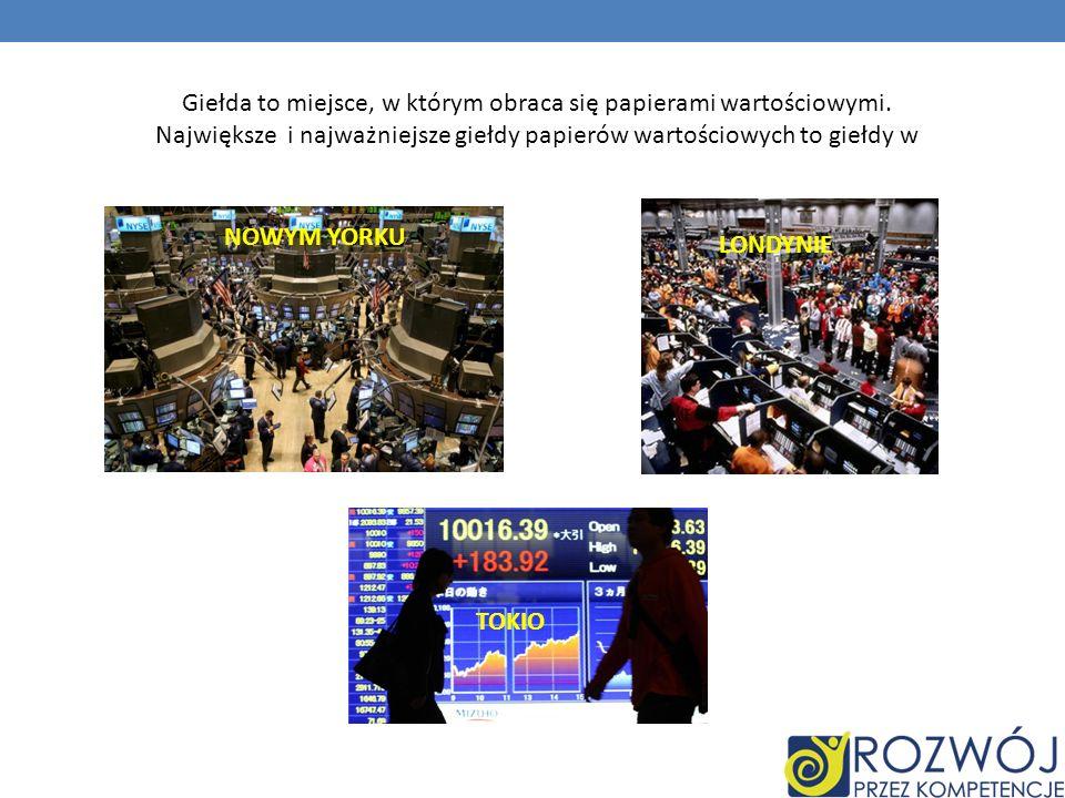 W Polsce pierwsza giełda rozpoczęła działanie w 1817 roku i działała do II wojny światowej.