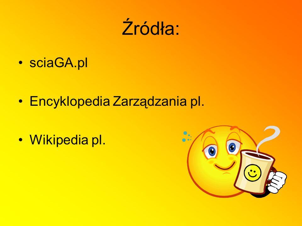 Źródła: sciaGA.pl Encyklopedia Zarządzania pl. Wikipedia pl.