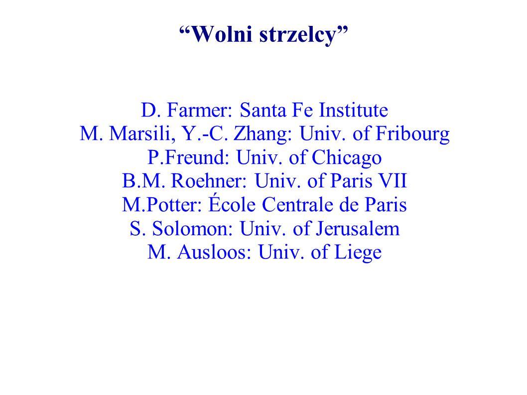 Fraktalne równanie relaksacji: relaksacja z pamięcią Wartość indeksu WIG X(t) w chwili t spełnia fraktalne równanie relaksacji odwrotna pochodna ułamkowa: OBSERWACJA Wartość indeksu w chwilach wcześniejszych ma wpływ na aktualną wartośc indeksu; wpływ ten ma charakter długookresowy