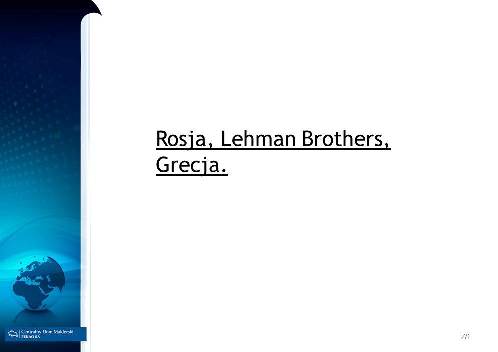 78 Rosja, Lehman Brothers, Grecja.