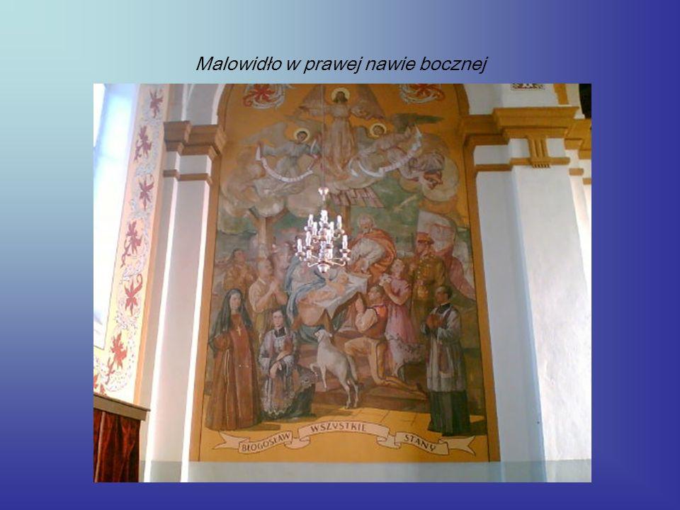 Malowidło w prawej nawie bocznej