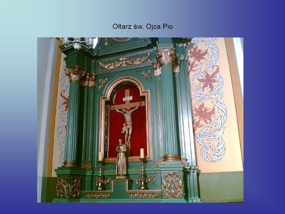 Ołtarz św. Ojca Pio