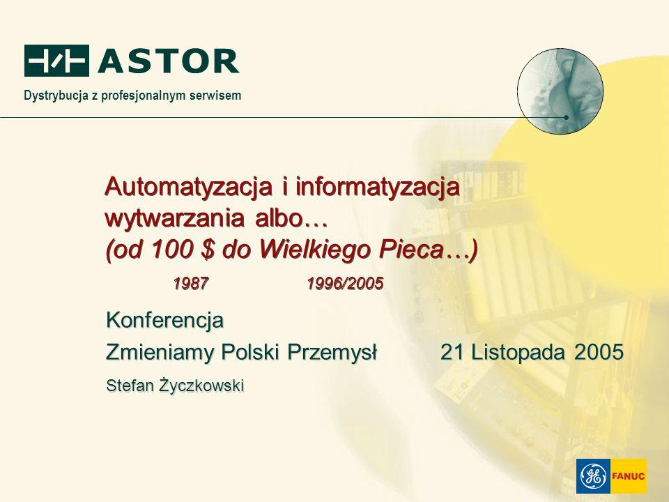 Dystrybucja z profesjonalnym serwisem Konferencja Zmieniamy Polski Przemysł 21 Listopada 2005 Stefan Życzkowski Konferencja Zmieniamy Polski Przemysł
