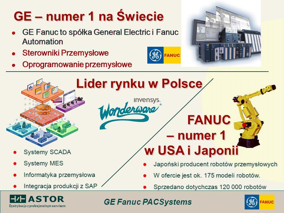 GE Fanuc PACSystems Dystrybucja z profesjonalnym serwisem GE – numer 1 na Świecie GE Fanuc to spółka General Electric i Fanuc Automation Sterowniki Pr
