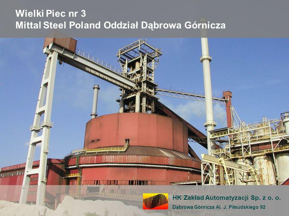 Wielki Piec nr 3 Mittal Steel Poland Oddział Dąbrowa Górnicza HK Zakład Automatyzacji Sp. z o. o. Dąbrowa Górnicza Al. J. Piłsudskiego 92