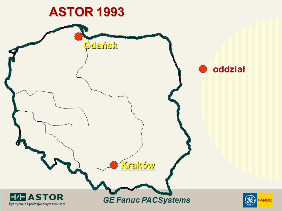 GE Fanuc PACSystems Dystrybucja z profesjonalnym serwisem ASTOR 1993 Kraków Gdańsk oddział