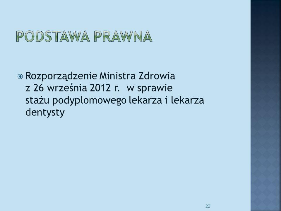 Rozporządzenie Ministra Zdrowia z 26 września 2012 r.