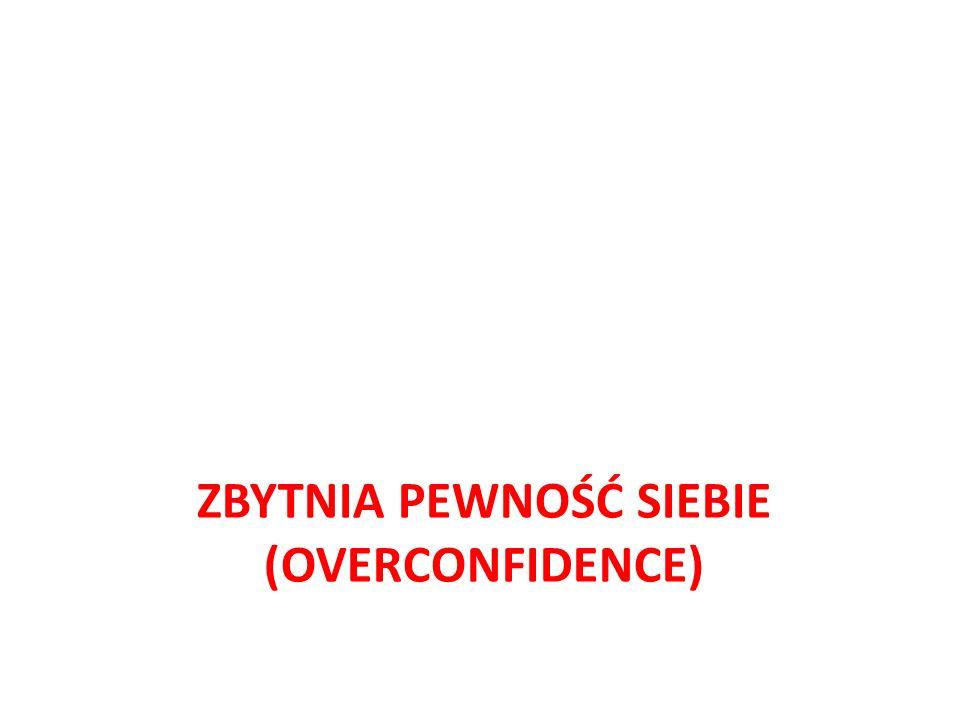 ZBYTNIA PEWNOŚĆ SIEBIE (OVERCONFIDENCE)