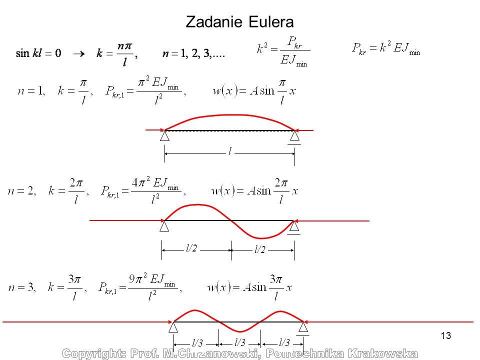 13 Zadanie Eulera l/2 l l/3