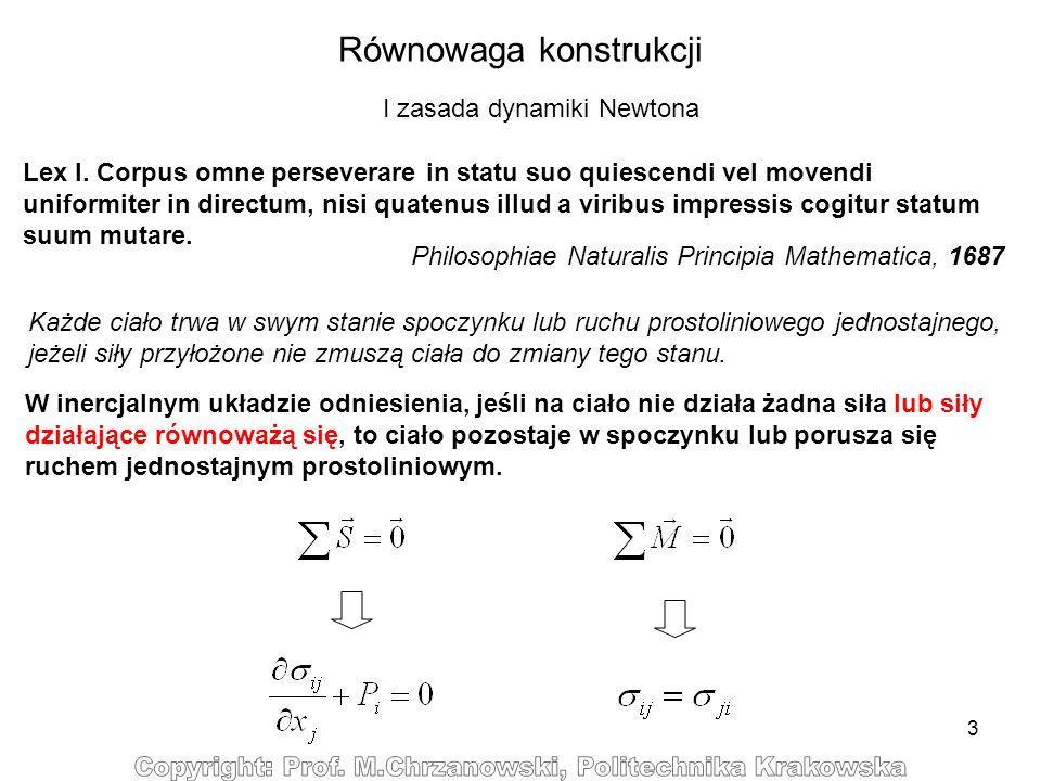 14 max P c Równowaga przy rozciąganiu/ściskaniu: stateczność - zniszczenie - wyboczenie Nieodwracalne zniszczenie przy rozciąganiu Siła rozciągająca P r Możliwosć utraty stateczności Siła ściskająca P c Przemieszczenie Równowaga obojętna Nieodwracalne zniszczenie przy ściskaniu P krytyczna Możliwość utraty stateczności 0 Wyboczenie Nowe położenie równowagi trwałej Równowaga trwała Dopuszczalne przemieszczenie przy rozciąganiu Dopuszczalne przemieszczenie przy ściskaniu max P r Przemieszczenie