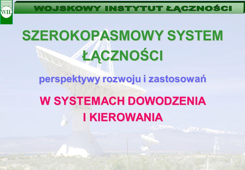 WSPÓŁPRACA APARATOWNI KOMUTACYJNEJ – DOSTĘPOWEJ Z ELEMENTAMI SYSTEMU DOWODZENIA ZWS-10S WDSz ELEMENTY STANOWISKA DOWODZENIA WLAN LAN...