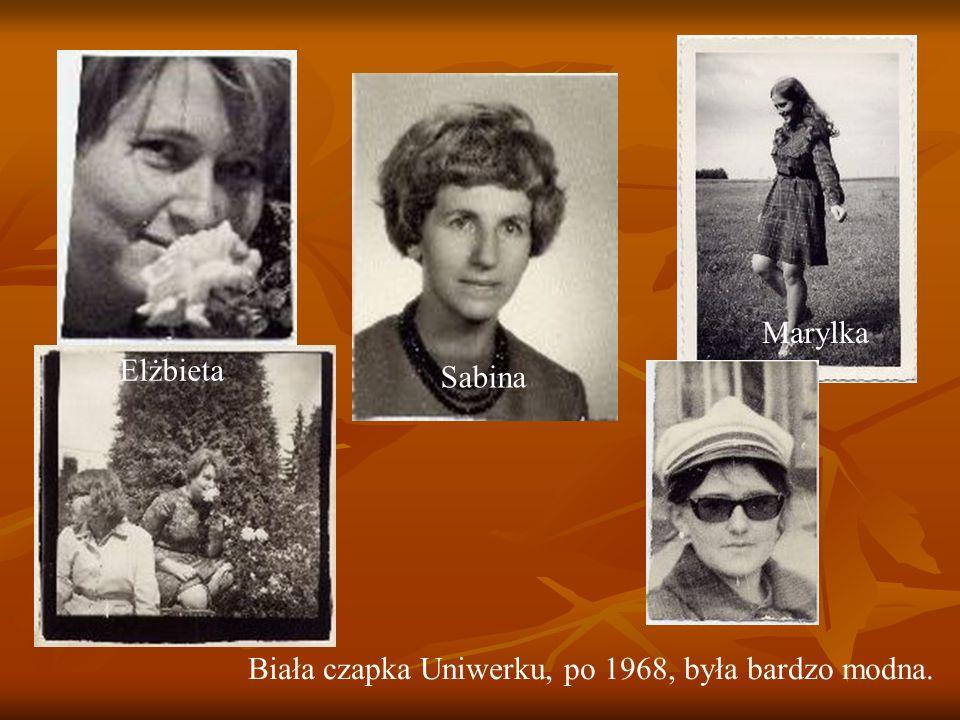 Sabina Elżbieta Marylka Biała czapka Uniwerku, po 1968, była bardzo modna.