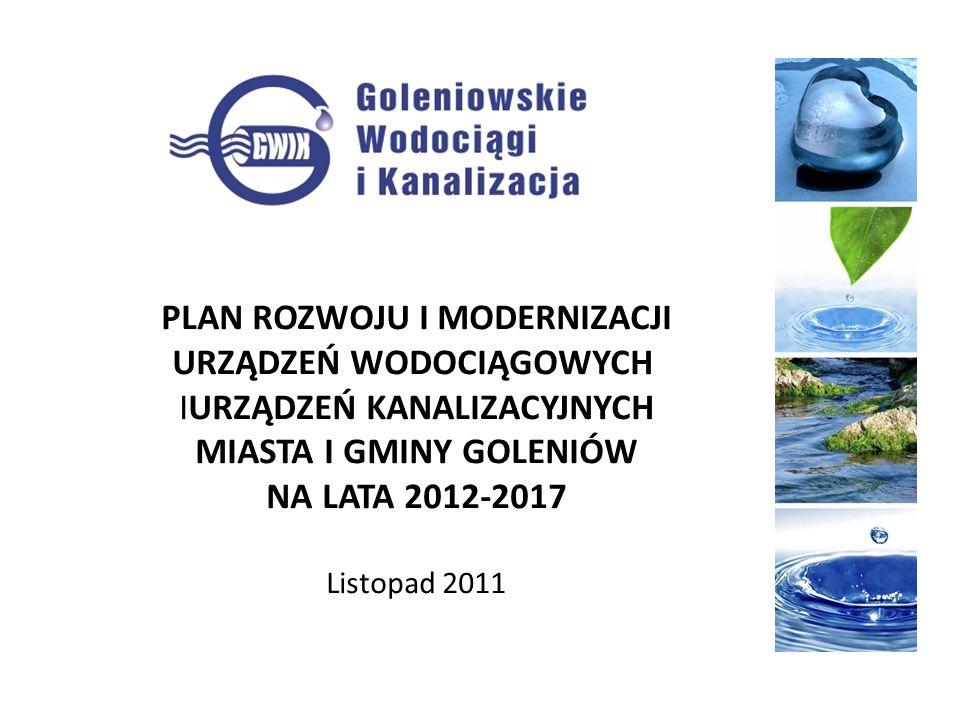 F.Przepompownie wody L.p.Przedsięwzięcia modernizacyjne i rozwojowe Wartość netto Okres realizacji 4 Wymiana pomp w przepompowni wody Lubczyna 50 000 2015 5 System alarmowy przepompowni6 000 2012 6 Centralny monitoring obiektów gospodarki wodno-ściekowej50 000 2012 Razem:106 000 G.Oczyszczalnie ścieków L.p.Przedsięwzięcia modernizacyjne i rozwojowe Wartość netto 1 Budowa przepompowni ścieków oczyszczonych z OŚ Białuń i rurociągu tłocznego 50 000 2012 2 Remont ogólnobudowlany OŚ Białuń50 000 2012 3 Remont OŚ Święta50 000 2013 4 Zakup przewoźnych agregatów prądotwórczych45 000 2012 5 Centralny monitoring obiektów gospodarki wodno-ściekowej400 000 2012 Razem:595 000
