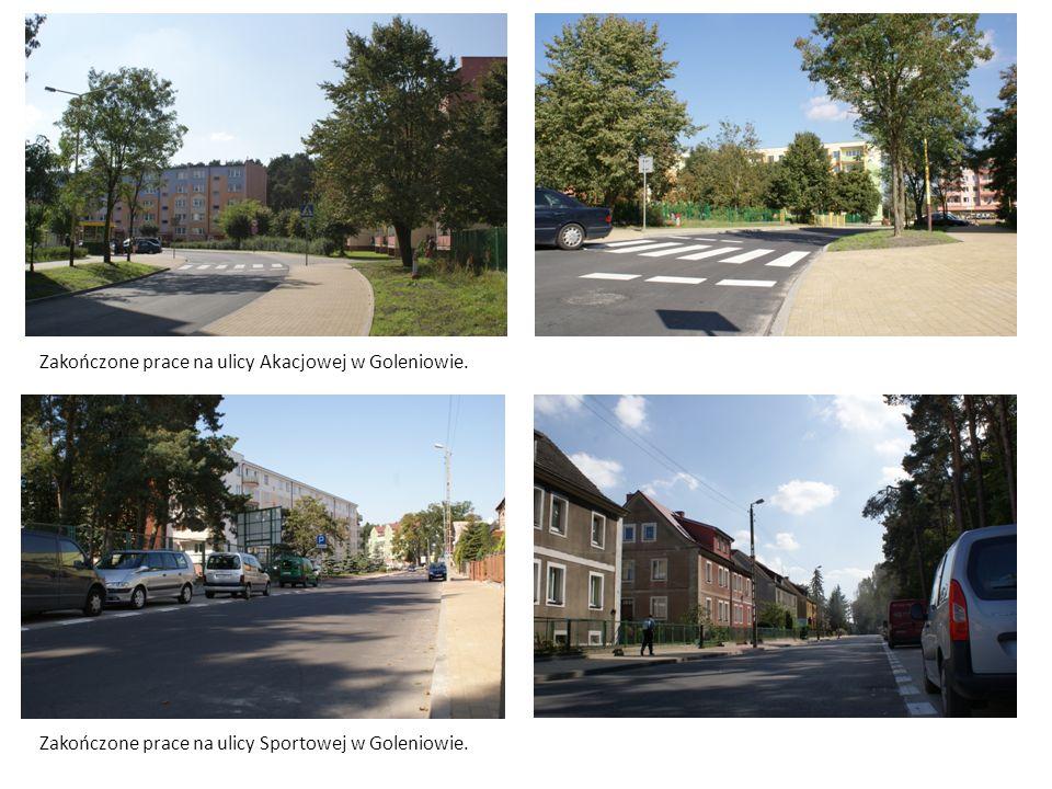 Zakończone prace na ulicy Akacjowej w Goleniowie. Zakończone prace na ulicy Sportowej w Goleniowie.