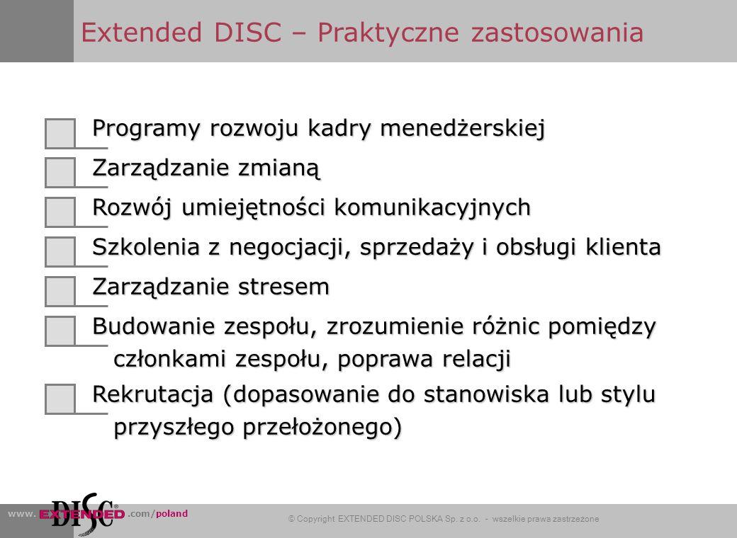 www..com/poland © Copyright EXTENDED DISC POLSKA Sp.