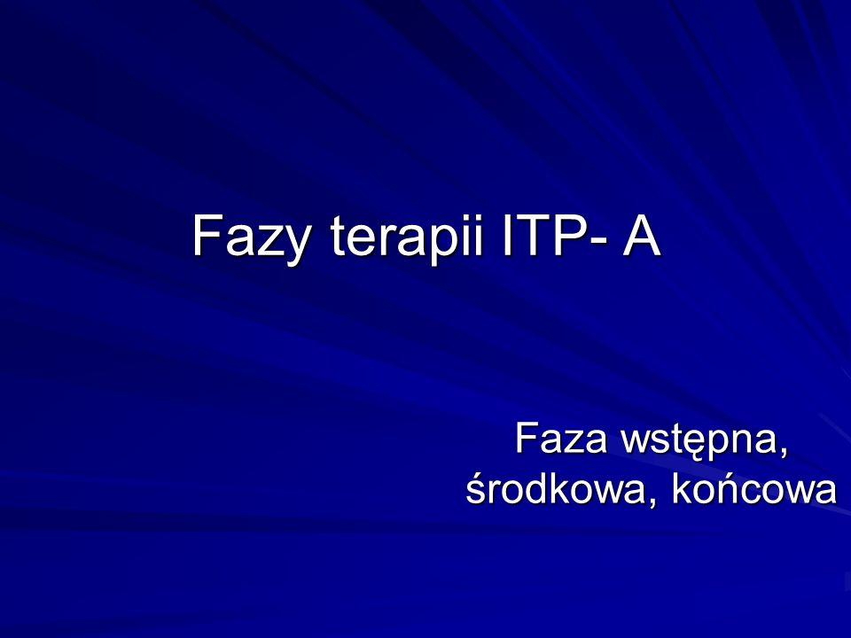 Fazy terapii ITP- A Faza wstępna, środkowa, końcowa