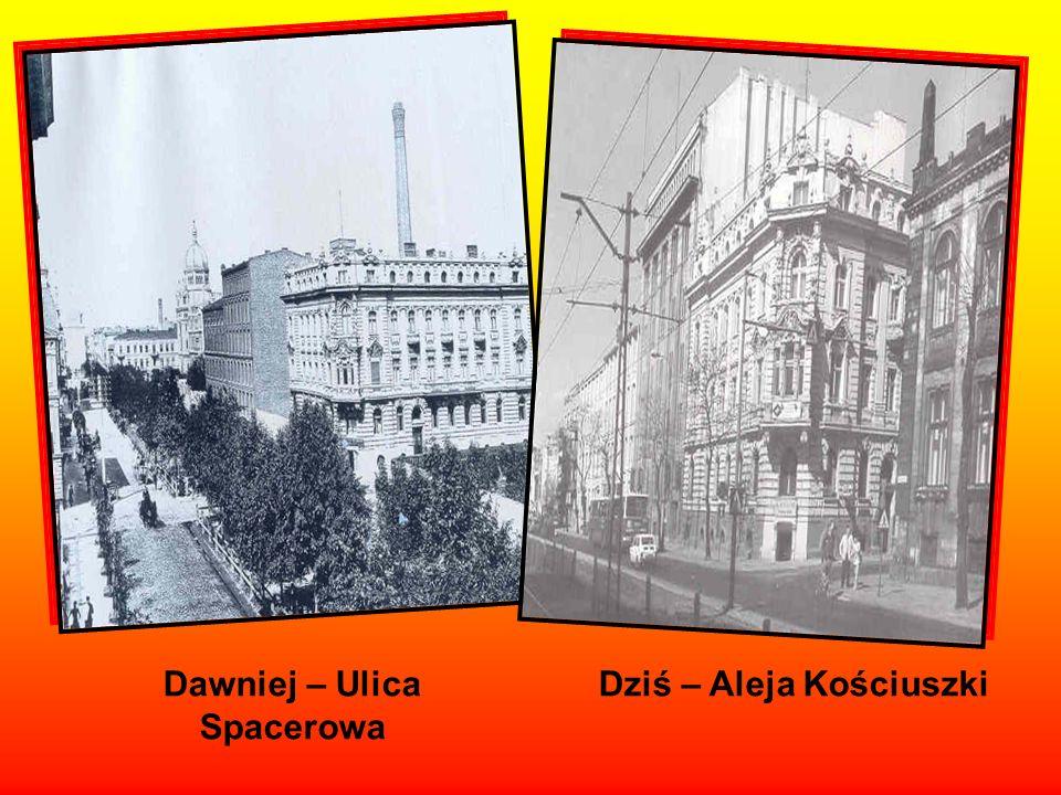 Dawniej przy ulicy Spacerowej stała synagoga Dziś został po niej pusty plac. Synagoga została spalona w 1939r.