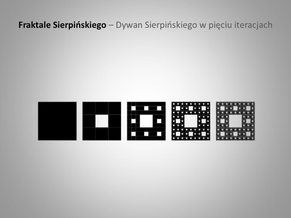 Fraktale Sierpińskiego – Dywan Sierpińskiego w pięciu iteracjach