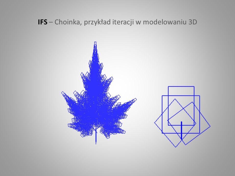 IFS – Choinka, przykład iteracji w modelowaniu 3D