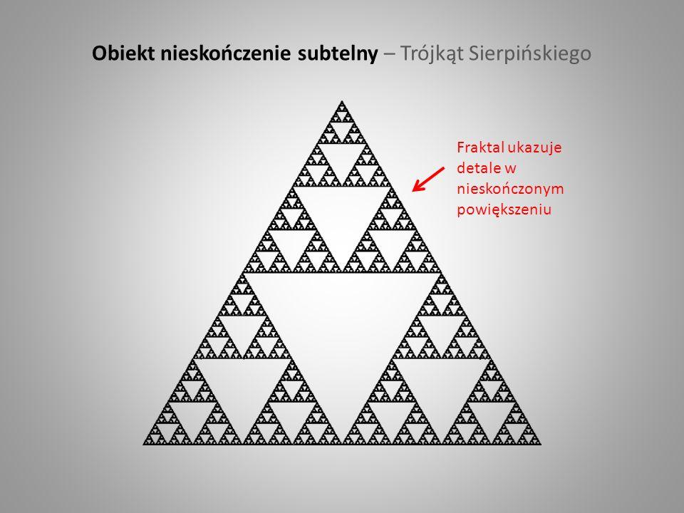 Obiekt nieskończenie subtelny – Trójkąt Sierpińskiego Fraktal ukazuje detale w nieskończonym powiększeniu