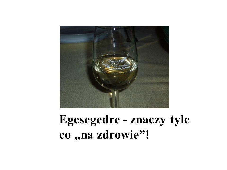 Egesegedre - znaczy tyle co na zdrowie!
