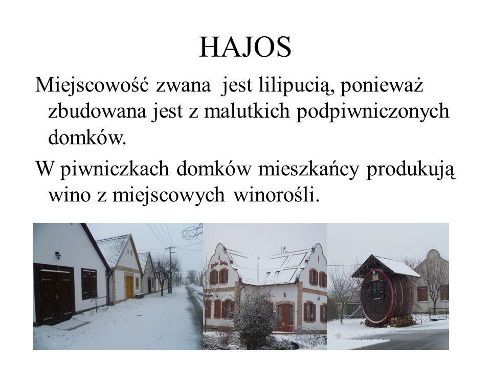HAJOS Miejscowość zwana jest lilipucią, ponieważ zbudowana jest z malutkich podpiwniczonych domków.