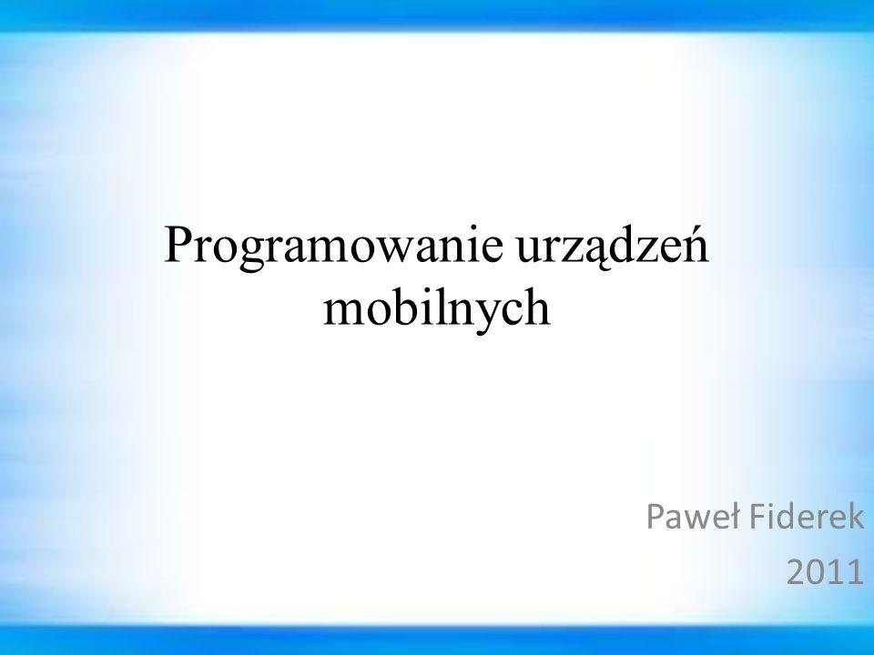 42PUM wykład 3 Paweł Fiderek