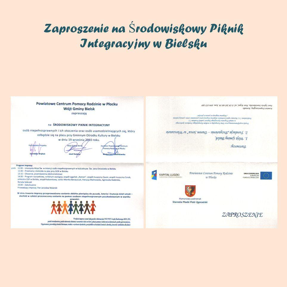 Zaproszenie na Ś rodowiskowy Piknik Integracyjny w Bielsku