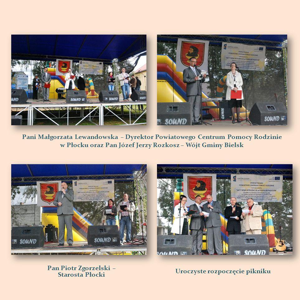Pani Małgorzata Lewandowska – Dyrektor Powiatowego Centrum Pomocy Rodzinie w Płocku oraz Pan Józef Jerzy Rozkosz – Wójt Gminy Bielsk Pan Piotr Zgorzel
