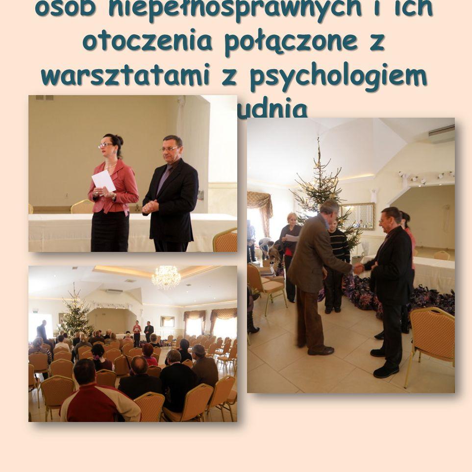 Spotkanie Mikołajkowe dla osób niepełnosprawnych i ich otoczenia połączone z warsztatami z psychologiem 14 grudnia