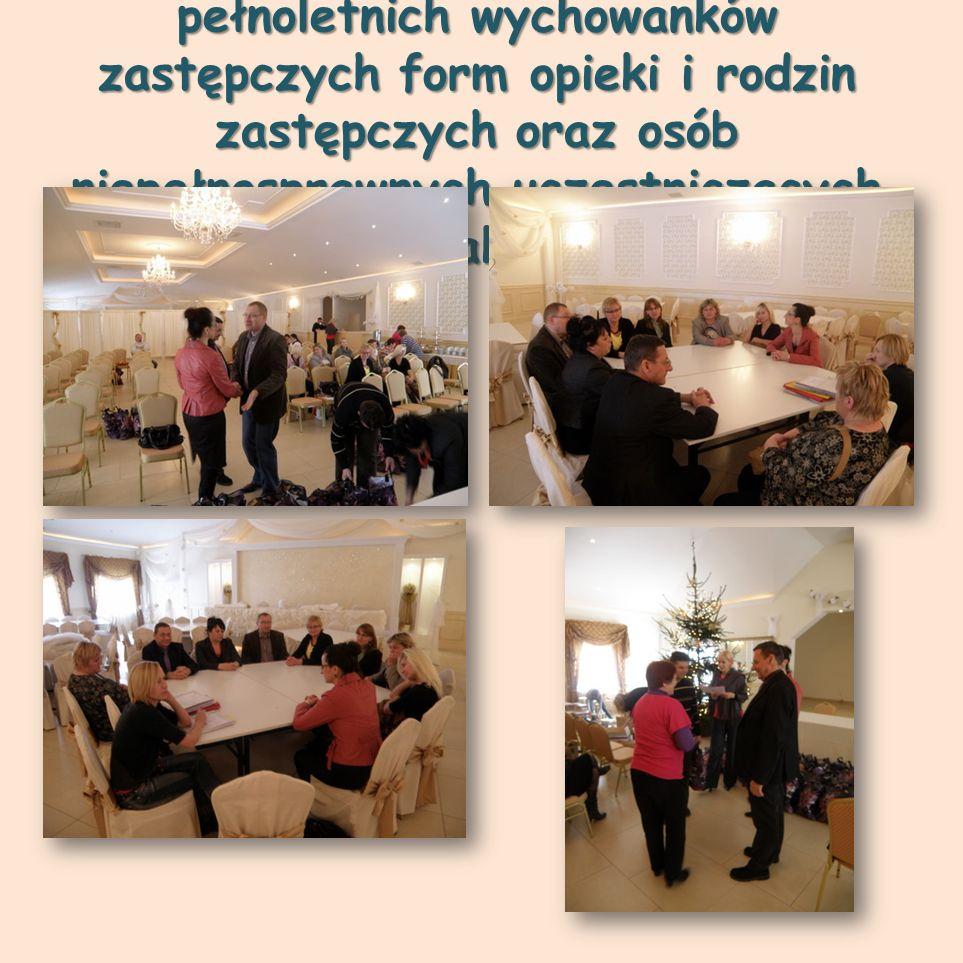 Spotkanie Mikołajkowe dla pełnoletnich wychowanków zastępczych form opieki i rodzin zastępczych oraz osób niepełnosprawnych uczestniczących w ramach k