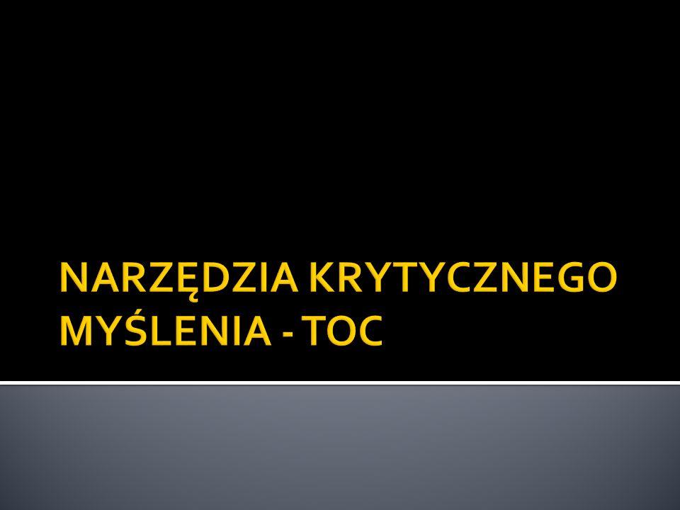 TOC - TEORIA OGRANICZEŃ Narzędzia TOC są skuteczne i stosowane przez Prezesów Korporacji...