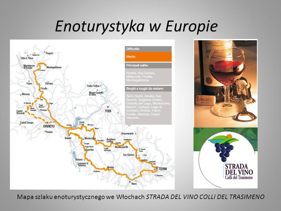 Enoturystyka w Europie Mapa szlaku enoturystycznego we Włochach STRADA DEL VINO COLLI DEL TRASIMENO