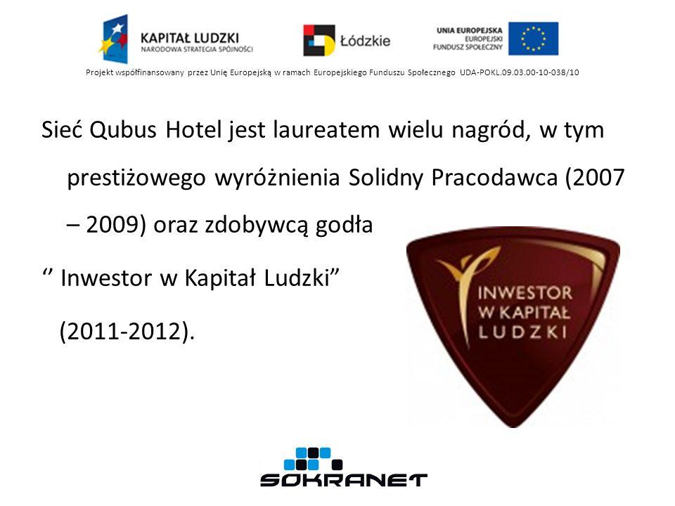 Sieć Qubus Hotel jest laureatem wielu nagród, w tym prestiżowego wyróżnienia Solidny Pracodawca (2007 – 2009) oraz zdobywcą godła Inwestor w Kapitał Ludzki (2011-2012).