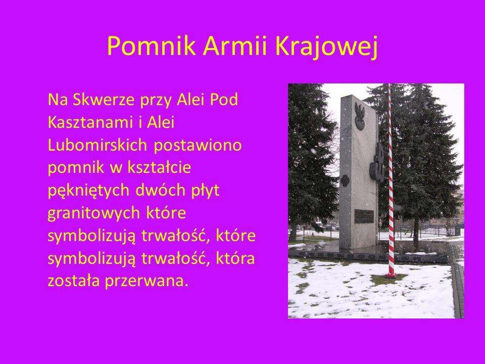 Krzyż Ofiar Komunizmu Tablica na głazie Krzyżu W tle Krzyża Zamek, dzisiejsza siedziba Sądu Wojewódzkiego