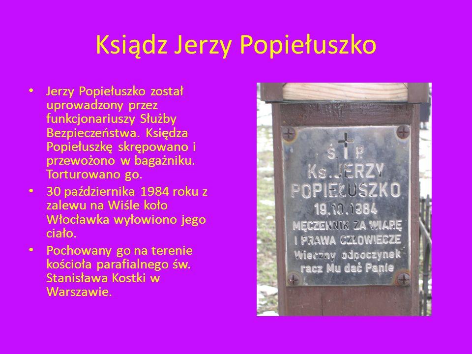 Ksiądz Jerzy Popiełuszko Kapłan Solidarności Na Starym Cmentarzu w Rzeszowie przy ulicy Targowej znajduje się symboliczna kwatera, pomnik ku czci bohaterskiego księdza.